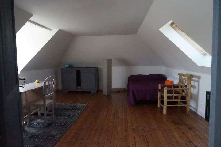 Grande Chambre, dans grande maison ancienne. - Trélazé - Casa