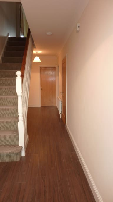 Entrance Hall With Timber floors