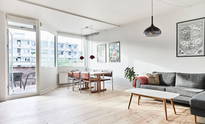 Spacious Nørrebro flat - 7min from city centre