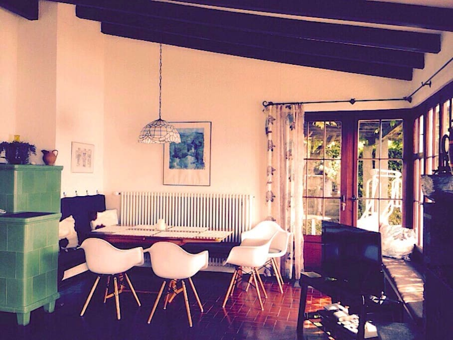 Picturesque indoor dining area