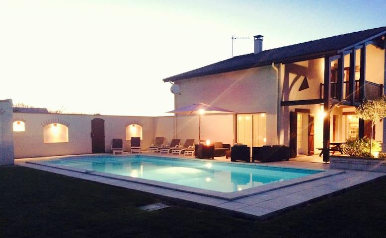 Maison landaise avec piscine 5x10 - Saint-Léon - Dom