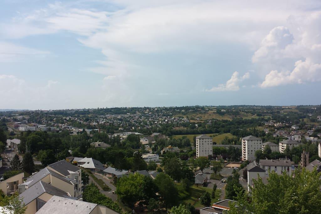 Vue panoramique de la ville