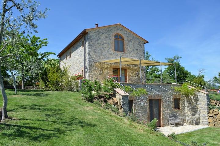 Hilltop Tuscany Villa near Siena and Crete Senesi