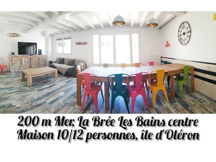 île d'Oléron/villa 10-12 pers/200 m mer/Ctre Bourg
