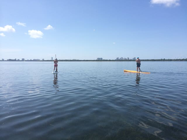 SUP in Biscayne Bay, steps from the Garden Suite
