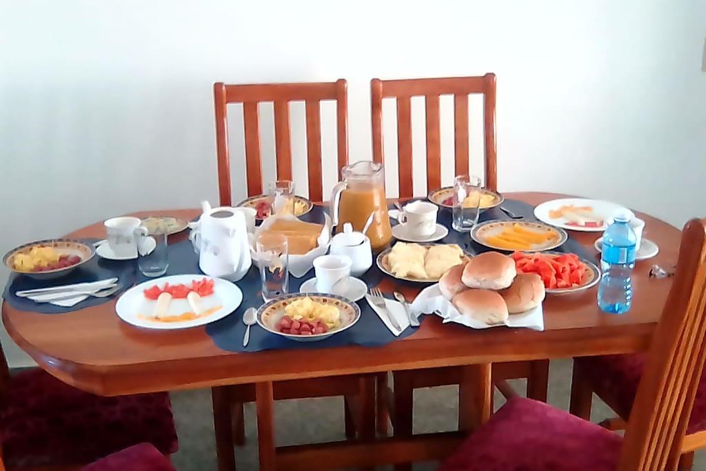 Servicio de Desayuno no incluido en el precio
