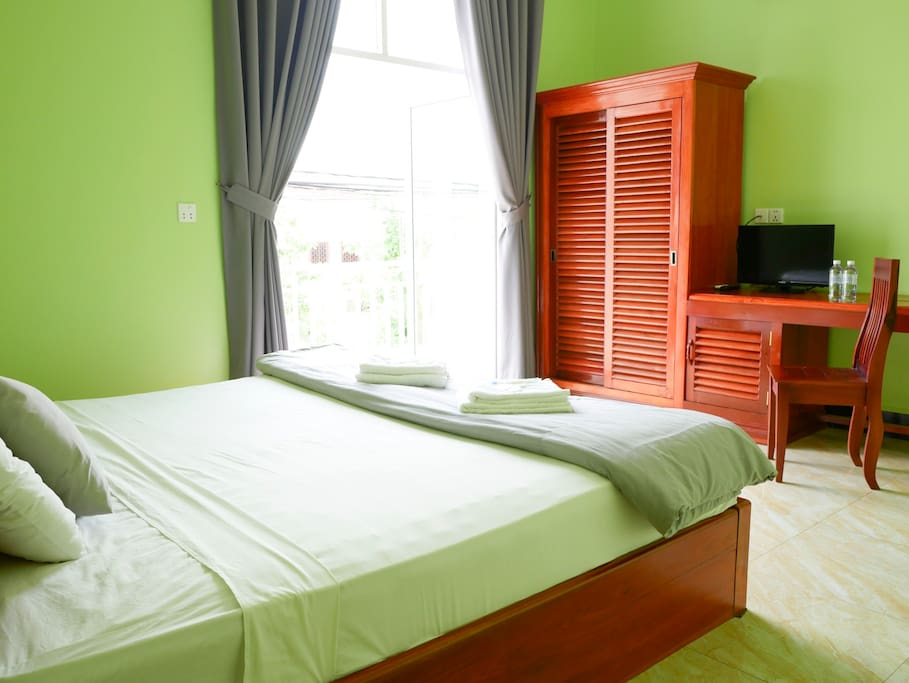 Double AC Room with flat screen cable TV