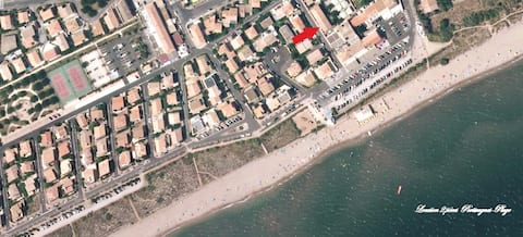 Appt T2 climatisé à 80m de la plage - Portiragnes