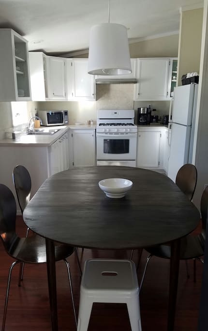 Large kitchen with spacious dining space
