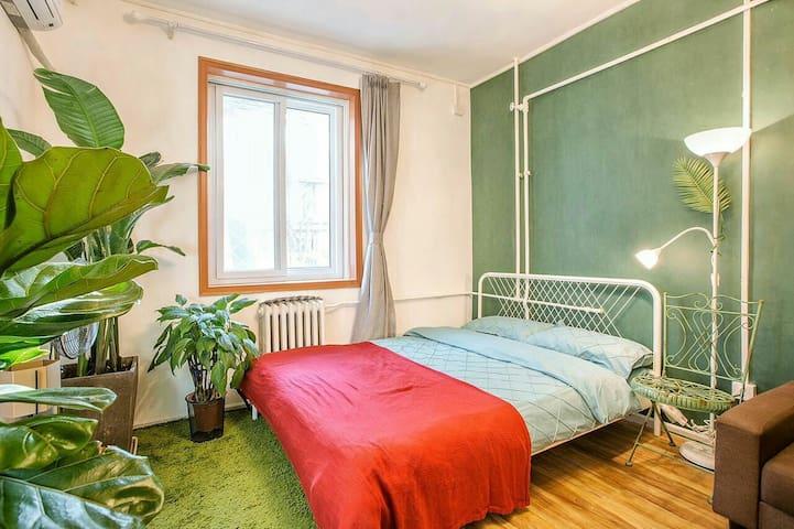 【空气净化器】中关村独享花园复古情调一居整租 - Beijing - Appartement