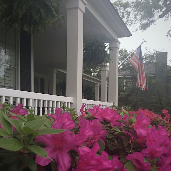 Front of home.