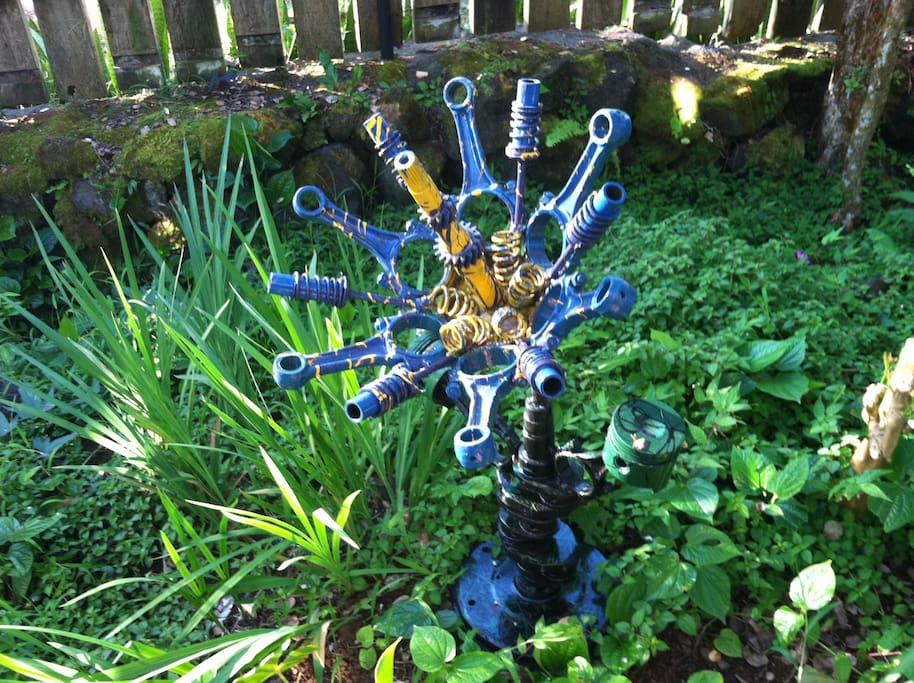 up cycled  VW engine parts flower