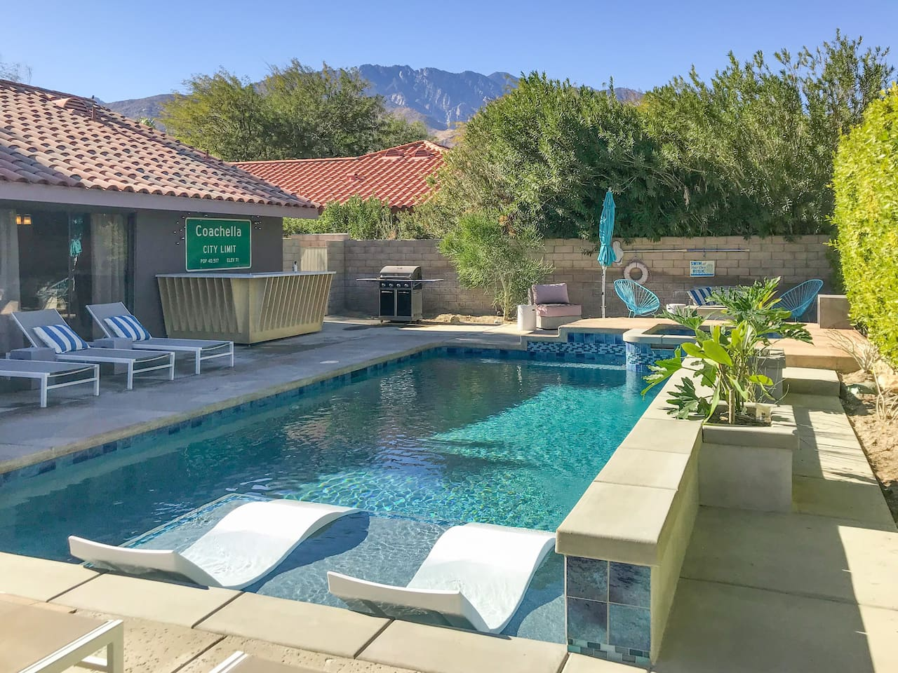 Beautiful mountain views from the pool - your own private resort!