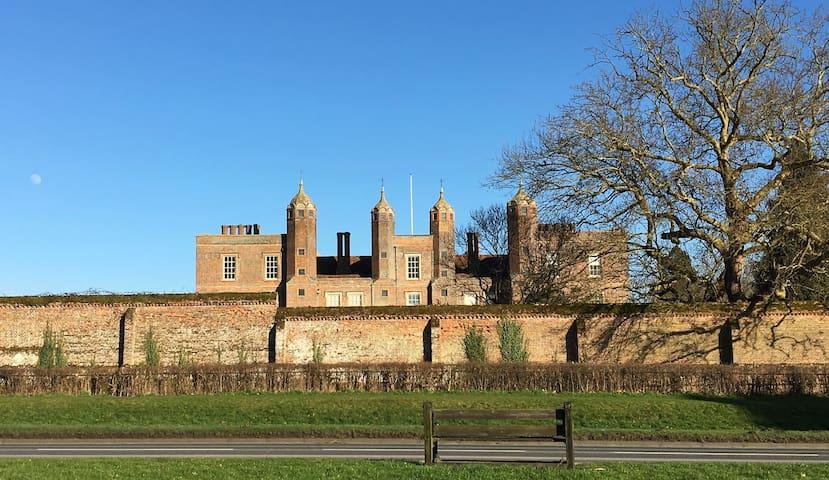 Opposite Melford Hall