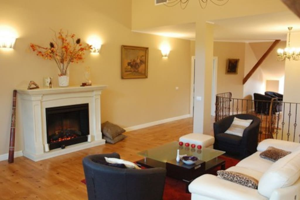Lounge area (private to you). All 4 bedrooms are upstairs and accessed from this lounge room.