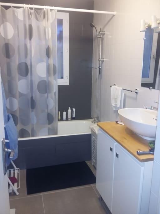 La salle de bain, douche