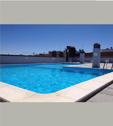 Ap Center Madrid With Swimming pool - Madrid - Pis