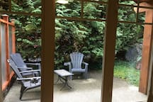 View of patio from the suite.