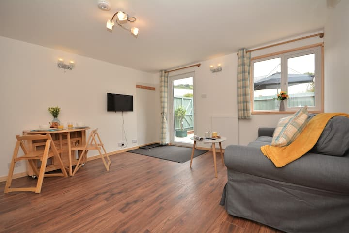 """The Summer House""  A log cabin in North Devon."