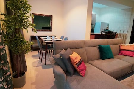 Mabaat homes luxury 2BR standard size Villa in obhour beach, perfect location