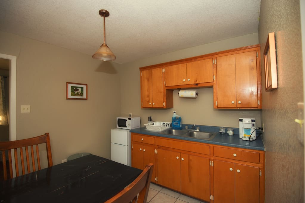 Kitchenette in Can Do Cabin.