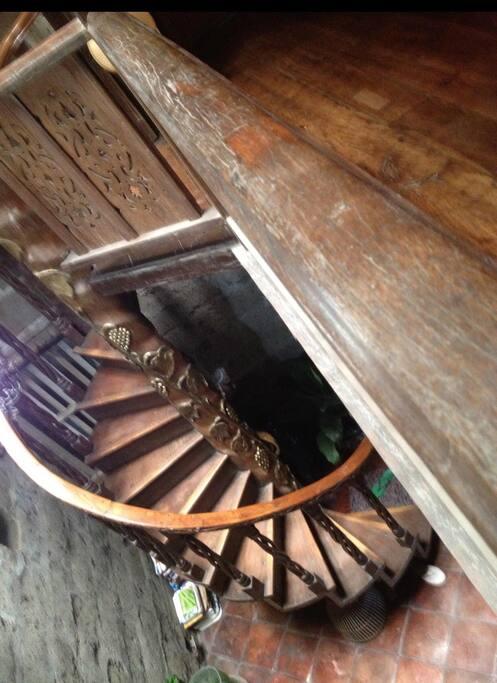 Spiral antique staircase