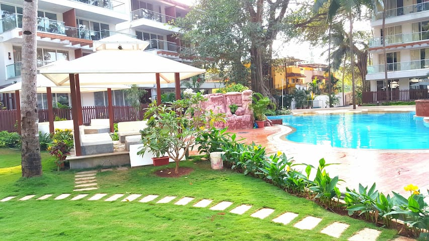 Stylish 1BHK Apartment with Huge Balcony with View