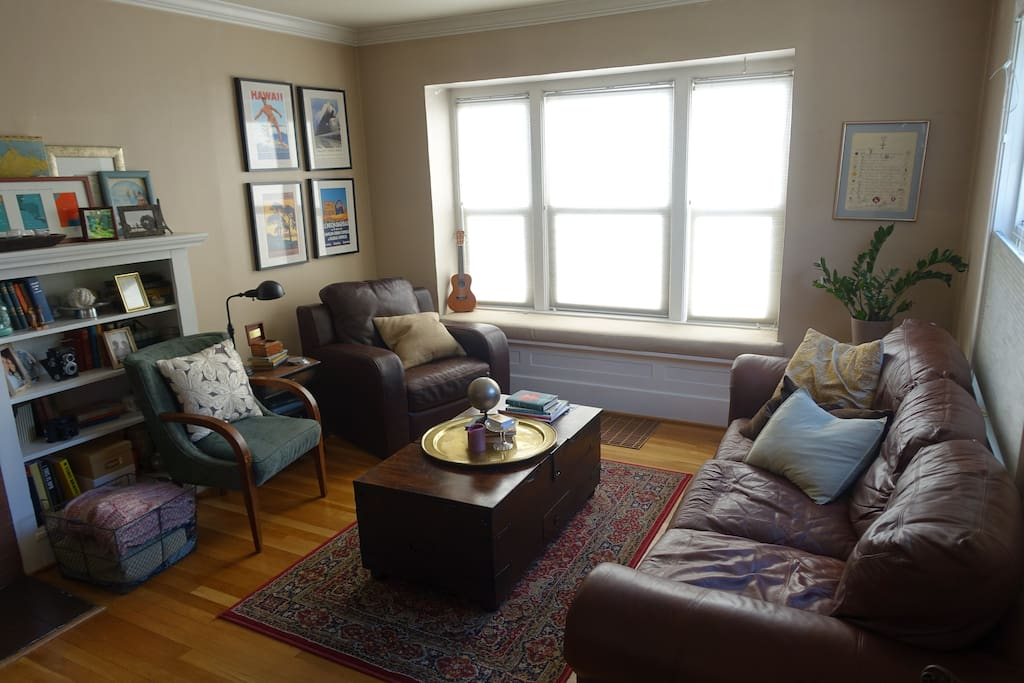 Spacious living room is great for entertaining or relaxing. Located on the first floor
