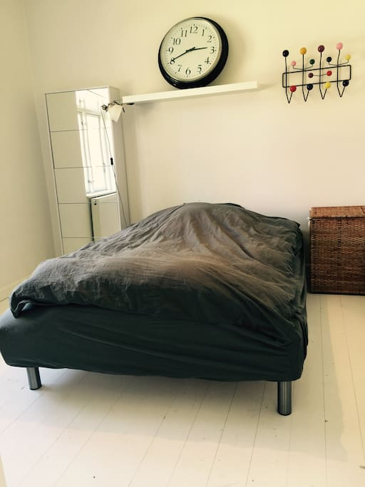 One of two masterbedrooms - This at 1st floor. The bed is 140cm wride.
