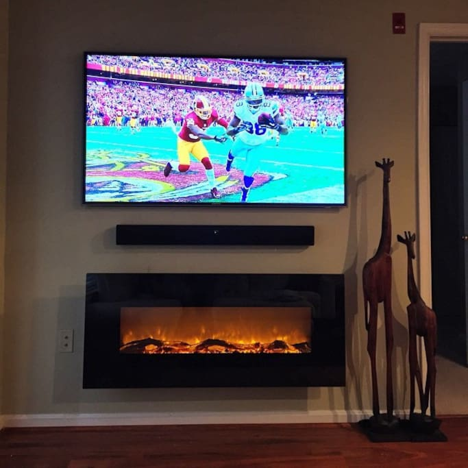 Apple TV with Electric Fireplace