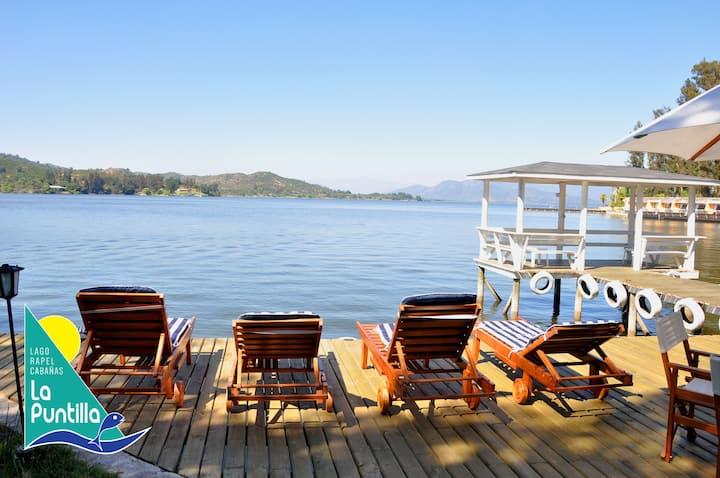 Cabaña matrimonial equipada un oasis junto al lago