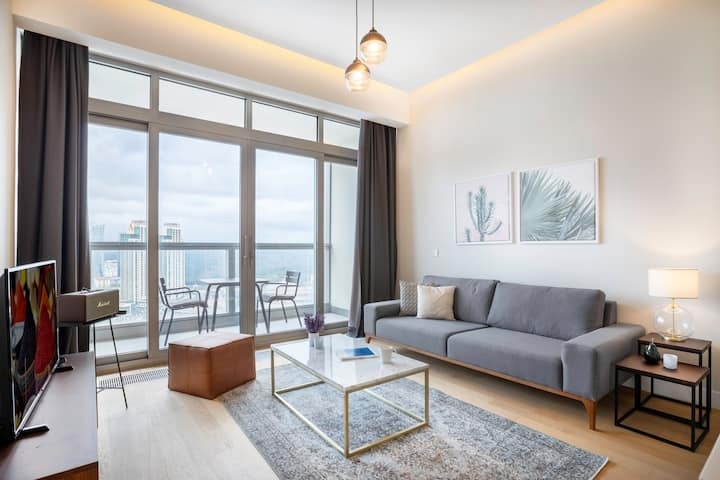 Tasteful 1BR at 42 Maslak with Pool & City View