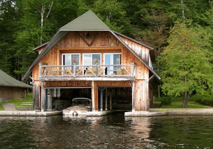 Happenstance Boathouse and Cabin - Lake Clear - Srub
