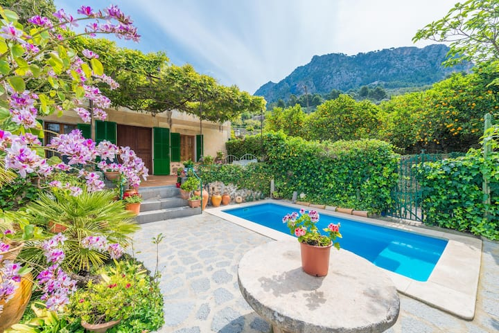 CAS PATRO LAU BIS - Villa with private pool in Biniaraix (Fornalutx). Free WiFi