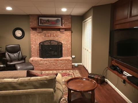 Lower level of beautiful home on a wooded lot
