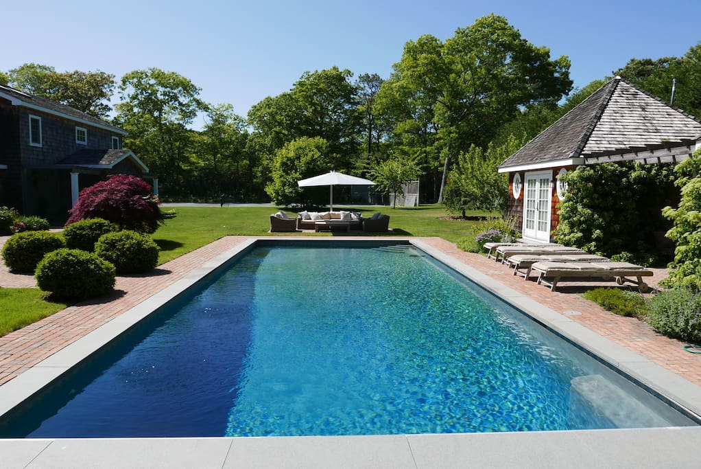 Gorgeous resort like family compound.  Pool, tennis, multiple outdoor lounging areas.