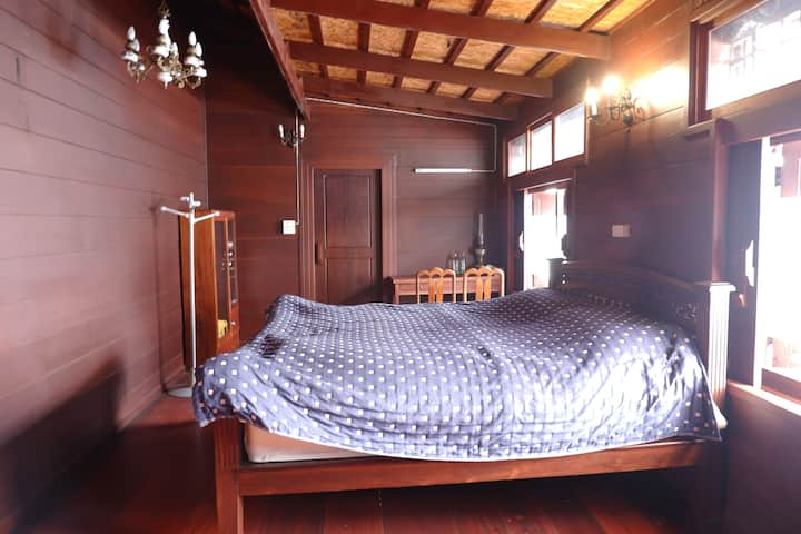 Wooden Room in Unique Wooden House
