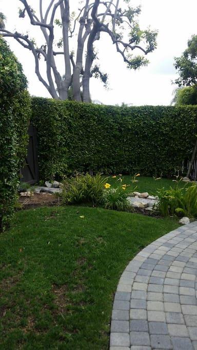 Beautiful, peaceful, side yard