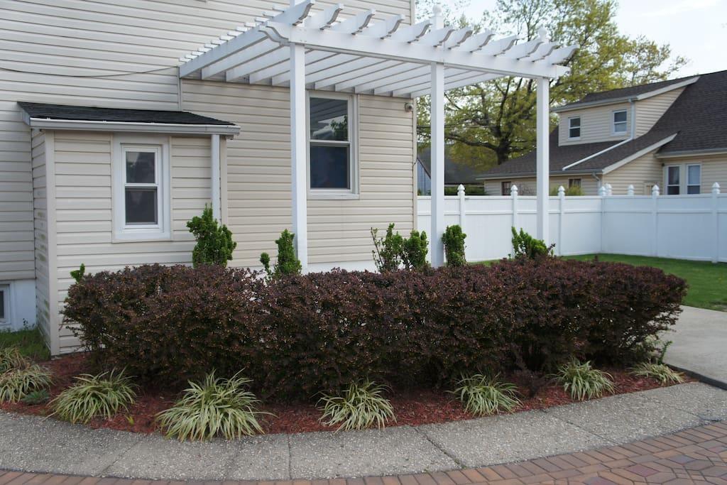 Three tier backyard garden