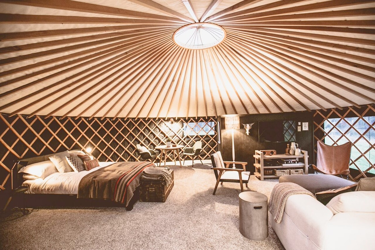 View Photos & The Round Tent -chic retreat - Yurts for Rent in Raglan Waikato ...