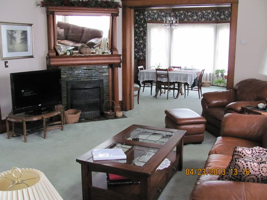 Your living room at the River's Bend.