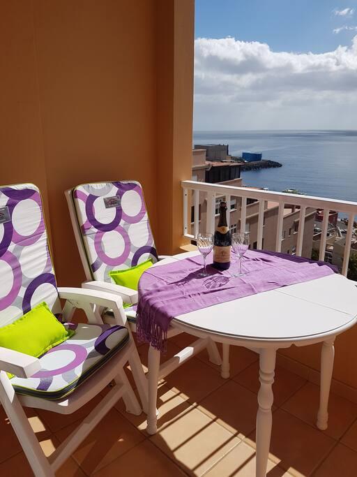 Balcón-vistas al mar
