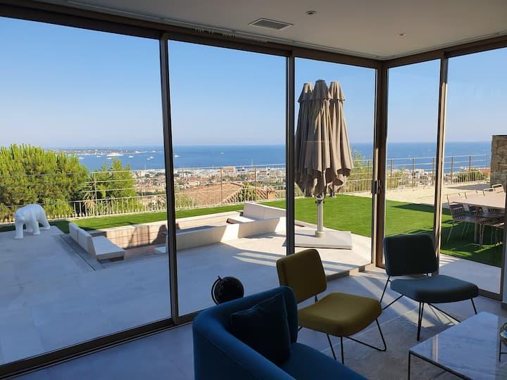 Villa de luxe, vue mer panoramique