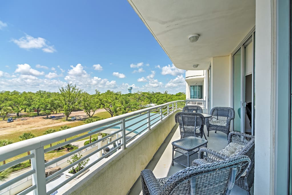 Soak in your prime oceanfront location from the private balcony!