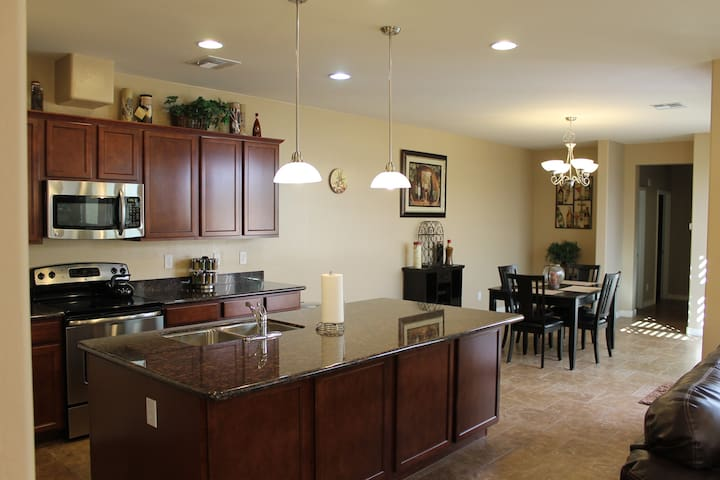 Open, Spacious Kitchen, Dining & Living area