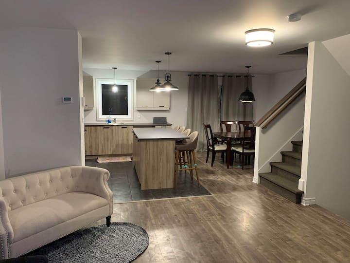 La maison moderne et confortable