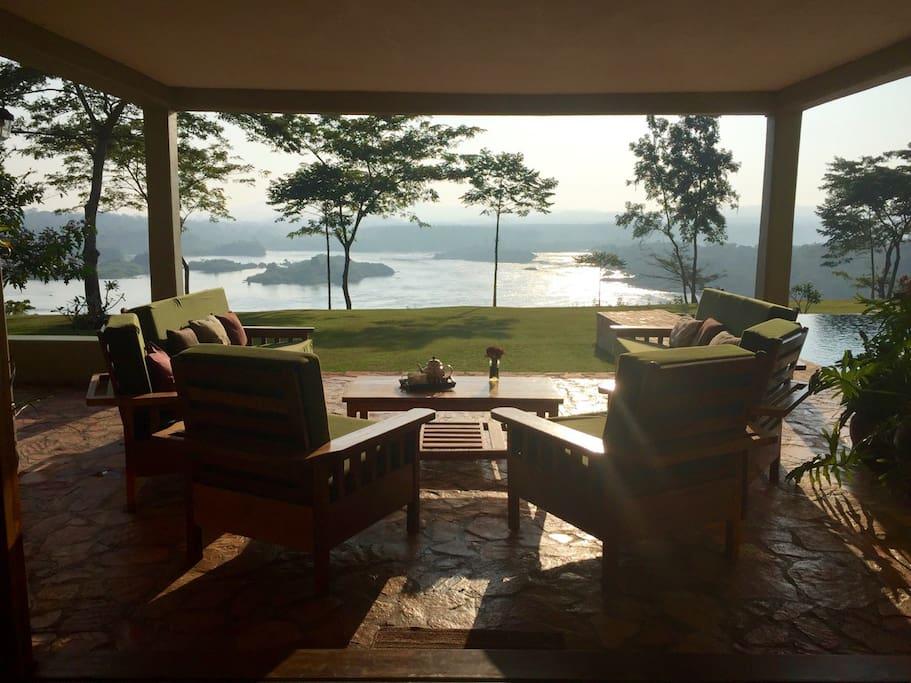 Early morning tea on the veranda