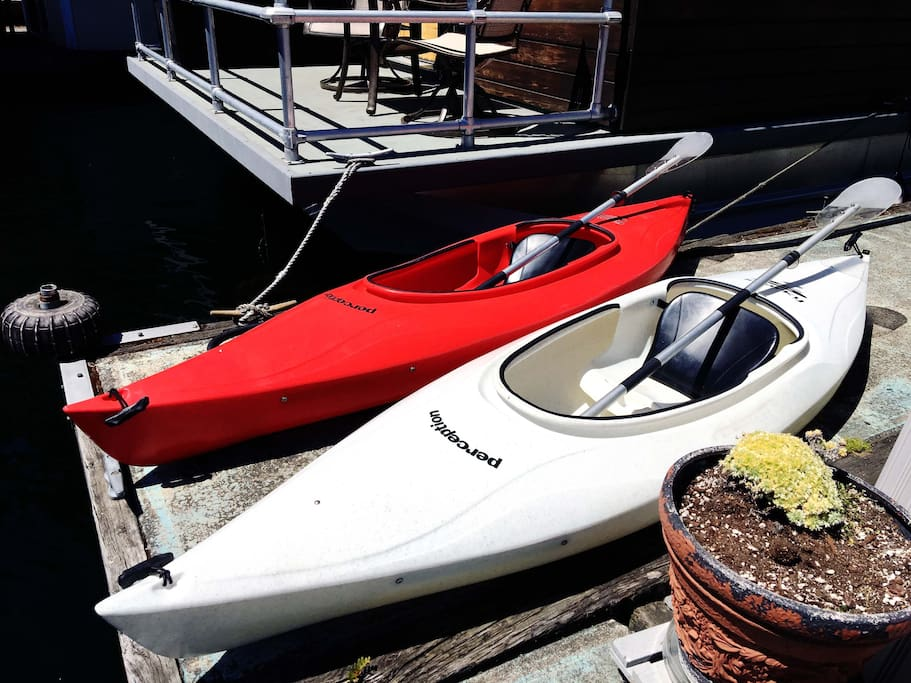 2 single-person kayaks and life jackets included in your stay.