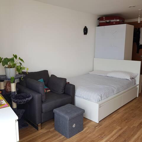 Studio flat with views close baltic triangle