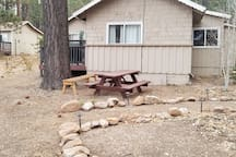 Picnic table on the premise.